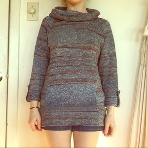 70s style tunic sweater